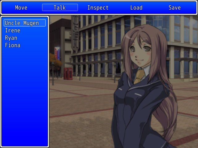 Visual Novel Interaction Menu